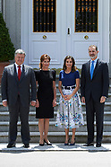 060418 Spanish Royals attend a lunch with President of Ukrania, Petro Poroshenko and wife Maryna Por