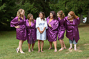 bride with bridesmaids by Tallmadge wedding photographer, Akron wedding photographer Mara Robinson Photography