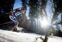 Simon Desthieux (FRA) during Men 15 km Mass Start at day 4 of IBU Biathlon World Cup 2015/16 Pokljuka, on December 20, 2015 in Rudno polje, Pokljuka, Slovenia. Photo by Ziga Zupan / Sportida