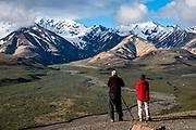 Views of the Alaska Range from Polychrome Overlook. Denali National Park, Alaska, USA.