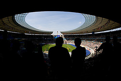 Olympic stadium during the 2009 IAAF Athletics World Championships on August 15, 2009 in Berlin, Germany. (Photo by Vid Ponikvar / Sportida)