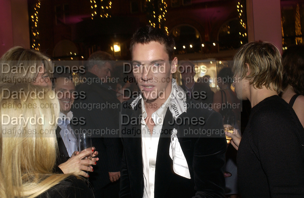 """Jonathan Rhys-Meyers. The after show party following the UK Premiere of """"Match Point,"""" at Asprey, New Bond st. London.   December 18 2005 ,  ONE TIME USE ONLY - DO NOT ARCHIVE  © Copyright Photograph by Dafydd Jones 66 Stockwell Park Rd. London SW9 0DA Tel 020 7733 0108 www.dafjones.com"""