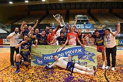 Team OK Merkur Maribor celebrating as National Champions after winning 1. DOL final match between OK Merkur Maribor and ACH Volley, on April 25, 2021 in Dvorana Tabor, Maribor, Slovenia. Photo by Milos Vujinovic / Sportida