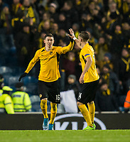 Football - 2019 / 2020 UEFA Europa League - Group G: Rangers vs. BSC Young Boys<br /> <br /> Young boys celebrate making it 1-1, at Ibrox Stadium.<br /> <br /> COLORSPORT/BRUCE WHITE