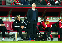 Cologne Manager Peter Stoger winks - Mandatory by-line: Robbie Stephenson/JMP - 23/11/2017 - FOOTBALL - RheinEnergieSTADION - Cologne,  - Cologne v Arsenal - UEFA Europa League Group H