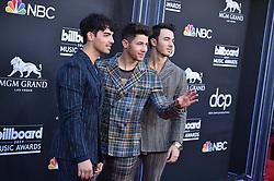 Joe Jonas, Nick Jonas, and Kevin Jonas of Jonas Brothers attend the 2019 Billboard Music Awards at MGM Grand Garden Arena on May 1, 2019 in Las Vegas, Nevada. Photo by Lionel Hahn/ABACAPRESS.COM