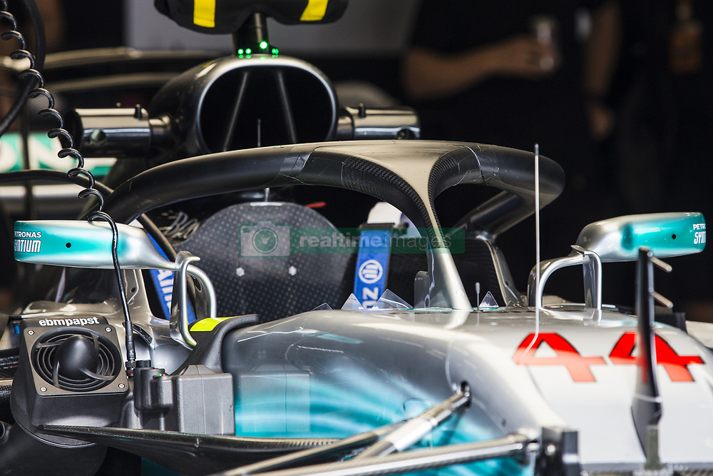 August 24, 2017 - Spa, Belgium - 44 HAMILTON Lewis from Great Britain of team Mercedes GP with the Halo during the Formula One Belgian Grand Prix at Circuit de Spa-Francorchamps on August 24, 2017 in Spa, Belgium. (Credit Image: © Xavier Bonilla/NurPhoto via ZUMA Press)