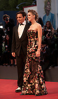 Actor Johnny Depp and actress Amber Heard at the gala screening for the film The Danish Girl  at the 72nd Venice Film Festival, Saturday September 5th 2015, Venice Lido, Italy.