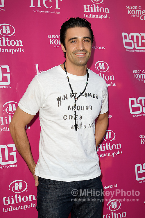 Actor Gilles Marini appears on the Pink Carpet at the Her House event at the Mavris in Indianapolis, Indiana.<br /> Photo by Michael Hickey