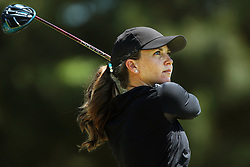 May 25, 2018 - Surrey, Michigan, United Kingdom - Madeleine Sheils of Boise, ID tees off on the first tee during the second round of the LPGA Volvik Championship at Travis Pointe Country Club, Ann Arbor, MI, USA Friday, May 25, 2018. (Credit Image: © Jorge Lemus/NurPhoto via ZUMA Press)