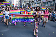 New York, NY - 30 June 2019. The New York City Heritage of Pride March filled Fifth Avenue for hours with participants from the LGBTQ community and it's supporters. New York State Attorney General Letitia James.