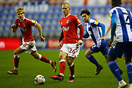Charlton Athletic midfielder Ben Watson (26) plays a pass during the EFL Sky Bet League 1 match between Wigan Athletic and Charlton Athletic at the DW Stadium, Wigan, England on 2 March 2021.