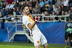 June 20, 2017 - Gdynia, Poland - Saul Niguez of Spain celebrates his score during the UEFA European Under-21 Championship 2017  Group B match between Portugal and Spain at Gdynia Stadium in Gdynia, Poland on June 20, 2017  (Credit Image: © Andrew Surma/NurPhoto via ZUMA Press)
