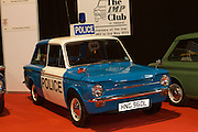 RIAC Classic Car Show 2013, RDS, Police Hillman Imp. An original 1972 Imp Police car. It was commissioned for the Norfolk Police Constabulary along with five others. It's the last original Imp Police car left on the road in the UK and Ireland. Irish, Photo, Archive.