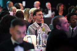 © Licensed to London News Pictures. FILE PICTURE DATED 26/10/2019. Salford , UK. OLLY ALEXANDER in the audience . The cast of Russell T Davies' TV drama It's a Sin attend a George House Trust fundraising gala at the Lowry Hotel in Salford . Photo credit: Joel Goodman/LNP