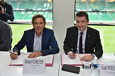 Signature of the Geoffroy Guichard stadium convention - 15 June 2018