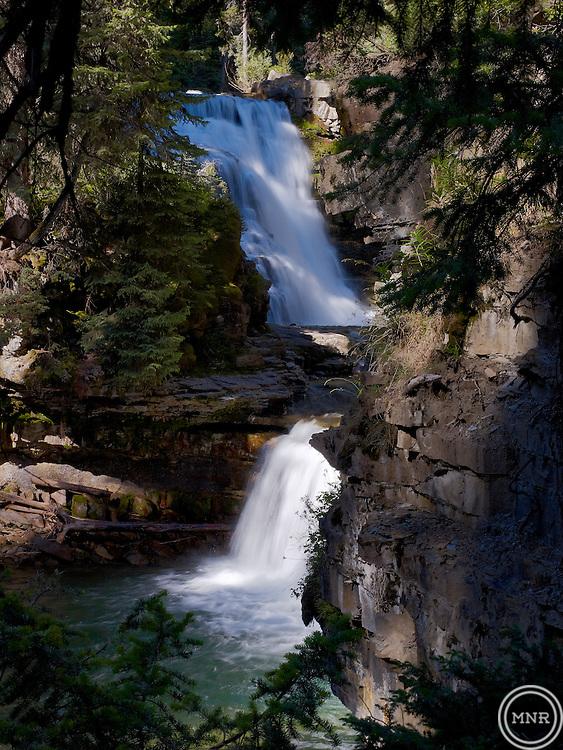 Ousel falls near Big Sky, Montana.