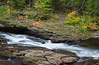 The Big Carp River flows through a colorful part of Porcupine Mountains Wilderness State Park.<br />