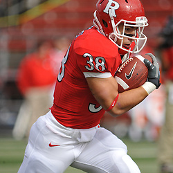 Oct 10, 2009; Piscataway, NJ, USA; Rutgers running back Joe Martinek (38) runs the ball during warmups for NCAA college football  between Rutgers and Texas Southern at Rutgers Stadium.
