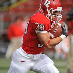 Oct 10, 2009; Piscataway, NJ, USA; Rutgers running back Joe Martinek (38) runs the ball during warmups for NCAA college football  between Rutgers and Texas Southern at Rutgers Stadium.