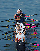 """Amsterdam. NETHERLANDS. GBR W8+. """"Push Off"""" from the boating dock 2014 FISA  World Rowing. Championships.  De Bosbaan Rowing Course . 08:38:18  Thursday  21/08/2014  [Mandatory Credit; Peter Spurrier/Intersport-images]"""