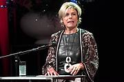 Prinses Margriet en Prinses Laurentien bij uitreiking ECF Princess Margriet Award for Culture 2017 in Paradiso, Amsterdam. ECF zet zich in voor cultuur in Europa. <br /> <br /> Princess Margriet and Princess Laurentien at the ECF Princess Margriet Award for Culture 2017 in Paradiso, Amsterdam. ECF is committed to culture in Europe.<br /> <br /> Op de foto / On the photo: <br /> <br />  Prinses Laurentien  /  Princess Laurentien