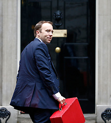 © Licensed to London News Pictures. 10/05/2016. London, UK. Minister for the Cabinet Office MATT HANCOCK arrives at Number 10 Downing Street in Westminster, London for cabinet meeting. Photo credit: Tolga Akmen/LNP