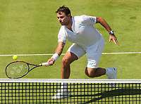 Tennis - 2017 Aegon Championships [Queen's Club Championship] - Day Two, Monday<br /> <br /> Men's Singles, Round of 32<br /> Feliciano Lopez [Spain] vs. Stan Wawrinka [Sui]<br /> <br />  Stan Wawrinka on Centre Court <br /> <br /> COLORSPORT/ANDREW COWIE