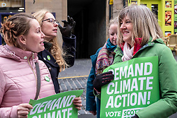 Pictured: Candidate Elaine Gunn asks Alison Johnstone for some election tips<br /><br />Scottish Green Party co-leader Lorna Slater and Lothian MSP Alison Johnstone joined Edinburgh General Election candidates as they canvased voters..<br /><br />Ger Harley | EEm 12 November 2019