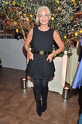 AMANDA ELIASCH at a party to celebrate 35 years of Harry's Bar, 26 South Audley Street, London on 19th September 2014.