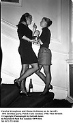Carolyn Wroughton and Shona McKinney at Jo Farrell's 30th birthday party. Polish Club. London. 1988. Film 88364f6<br />
