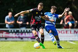 (L-R) Luigi Bruins of sbv Excelsior, Gustavo Hamer of PEC Zwolle during the Friendly match between PEC Zwolle and Excelsior at Sportpark Gerner on July 14, 2018 in Dalfsen, The Netherlands