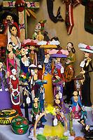 Day of the Dead crafts in a shop, San Miguel de Allende, Mexico