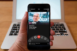 Using iPhone smartphone to display show on BBC World Service Network radio station