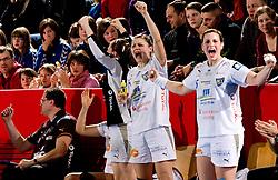 Ania Roesler during 2nd Round of Group 1 at Women Champions League handball match between RK Krim Mercator, Ljubljana and HC Leipzig, Germany on February 13, 2010 in Arena Kodeljevo, Ljubljana, Slovenia. Krim defeated  Leipzig 32-26. (Photo by Vid Ponikvar / Sportida)