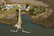 Aerial view of Gold Bug Island in Mount Pleasant, SC.
