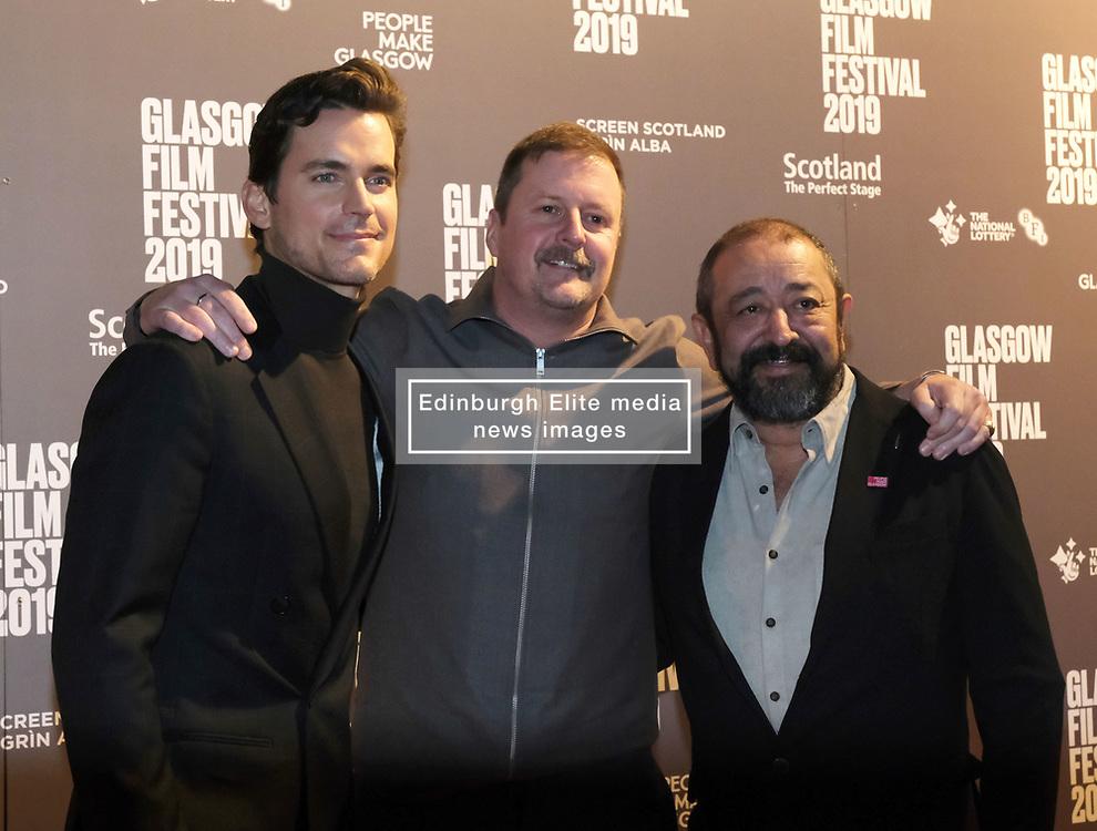 Glasgow Film Festival 2019<br /> <br /> Scottish Premier of Papi Chulo<br /> <br /> <br /> Pictured: Matt Bomer, John butler, Alejandro Patino<br /> <br /> (c) Aimee Todd | Edinburgh Elite media