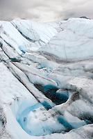 Meltwater patterns on the Kennecott Glacier, Wrangell-St. Elias National Park Alaska