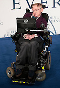 "Dec 9, 2014 - ""The Theory Of Everything"" - UK Premiere - Red Carpet Arrivals at Odeon,  Leicester Square, London<br /> <br /> Pictured:  Professor Stephen Hawking<br /> ©Exclusivepix Media"