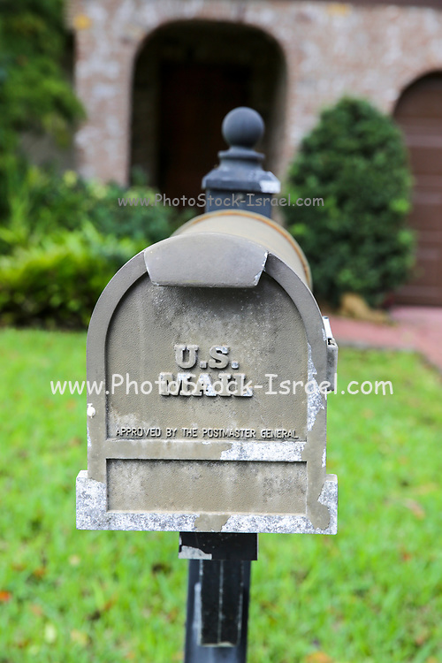 US Mail box approved by the postmaster general. Photographed in Florida, USA