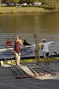 Boston, Massachusetts, USA. Harvard [Newell] Boat house, thur's afternoon,  19/10/2006,  on the Charles River, Preparing for the 2006 Head of the Charles,  Photo  Peter Spurrier/Intersport Images...[Mandatory Credit, Peter Spurier/ Intersport Images] Rowing Course; Charles River. Boston. USA