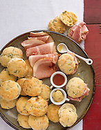 Buttermilk Scallion Bisuits with Country Ham for Derby day appetizer for Capital Style. (Will Shilling/Capital Style)