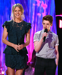 LOS ANGELES - AUGUST 13: Kaitlin Olson and Thomas Barbusca onstage at FOX's 'Teen Choice 2017' at the Galen Center on August 13, 2017 in Los Angeles, California. (Photo by Frank Micelotta/FOX/PictureGroup) *** Please Use Credit from Credit Field ***