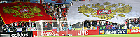 GEPA-2606081384 - WIEN,AUSTRIA,26.JUN.08 - FUSSBALL - UEFA Europameisterschaft, EURO 2008, Russland vs Spanien, RUS vs ESP, Halbfinale. <br />Bild zeigt Russland-Fans. Keywords: Fahne, Flagge.<br />Foto: GEPA pictures/ Guenter Artinger