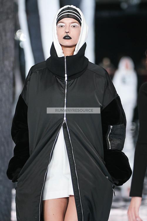 Mina Cvetkovic walks the runway wearing PUMA x FENTY by Rihanna Fall 2016 during New York Fashion Week on February 12, 2016