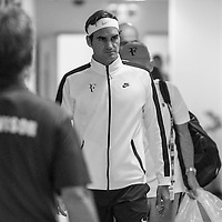 Roger Federer of Switzerland ahead of the men's final on day fourteen of the 2017 Australian Open at Melbourne Park on January 29, 2017 in Melbourne, Australia.<br /> (Ben Solomon/Tennis Australia)
