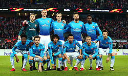 Arsenal line up to face Cologne - Mandatory by-line: Robbie Stephenson/JMP - 23/11/2017 - FOOTBALL - RheinEnergieSTADION - Cologne,  - Cologne v Arsenal - UEFA Europa League Group H