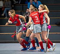 HAMBURG  (Ger) - Match 19,  for bronze , Der Club an der Alster (Ger) - Club Campo de Madrid (Esp)  Photo: Alster scored.  Eurohockey Indoor  Club Cup 2019 Women . WORLDSPORTPICS COPYRIGHT  KOEN SUYK