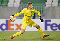 RAZGRAD, BULGARIA - OCTOBER 22: Goalkeeper Jean Butez of Antwerp in action during the UEFA Europa League Group J stage match between PFC Ludogorets Razgrad and Royal Antwerp at Ludogorets Arena on October 22, 2020 in Razgrad, Bulgaria. (Photo by Nikola Krstic/MB Media)
