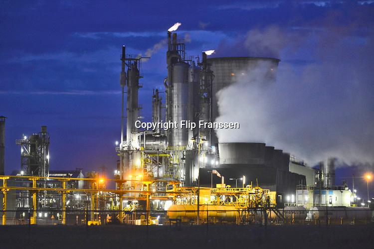 Nederland, Netherlands, Geleen, 18-4-2019 Chemische fabriek van DSM. Camelot bedrijfsterrein. Hier wordt de grootste mestfabriek van het land gebouwd, bedoeld om mestoverschotten duurzaam weg te werken .Foto: Flip Franssen